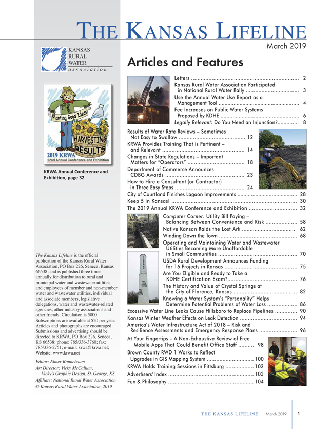 Kansas Rural Water Association > ONLINE RESOURCES > Past Issues